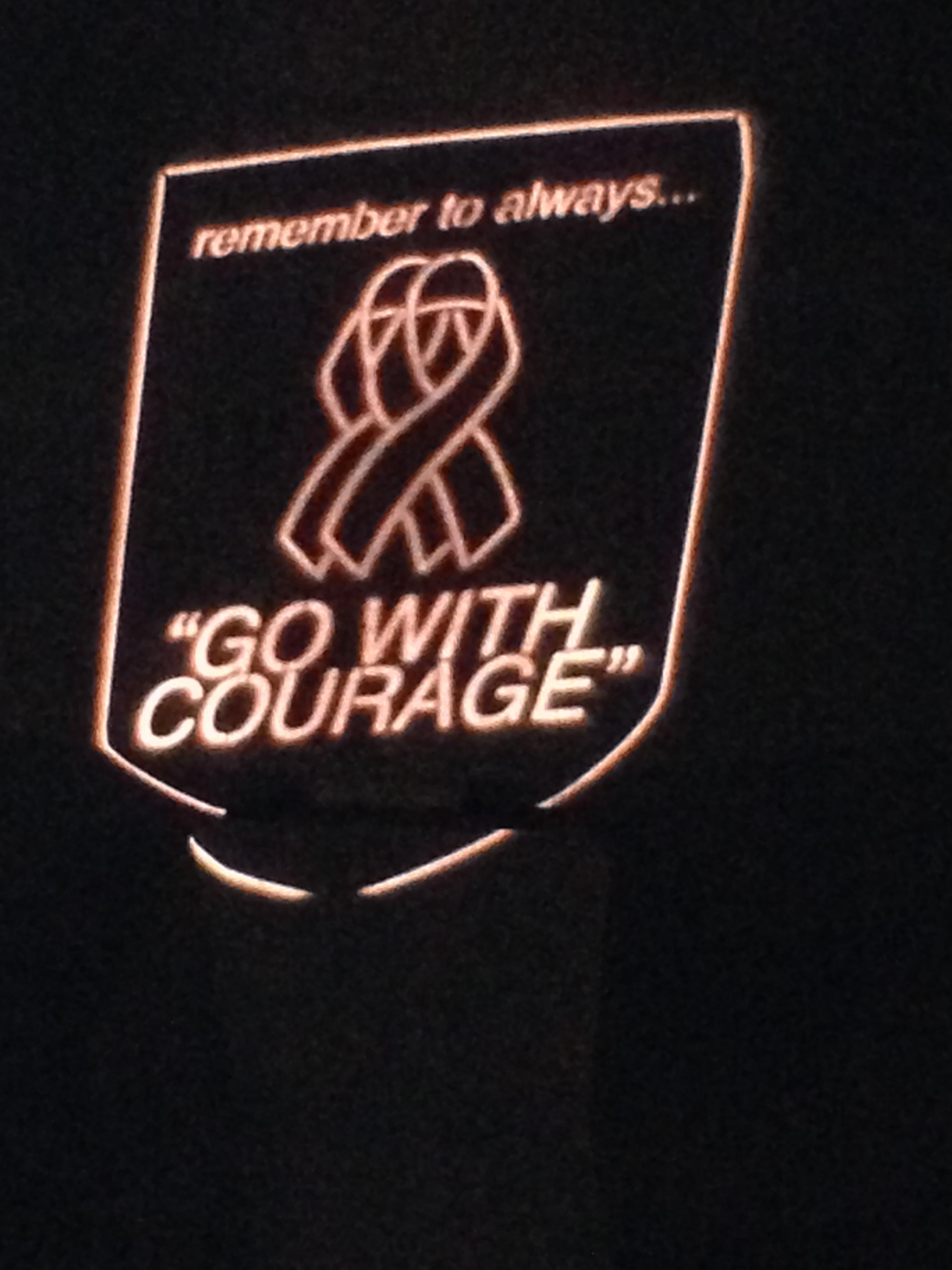 Illuminated Sign in the night sky at the 2014 Casino Night