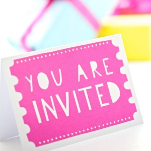 you are invited pink