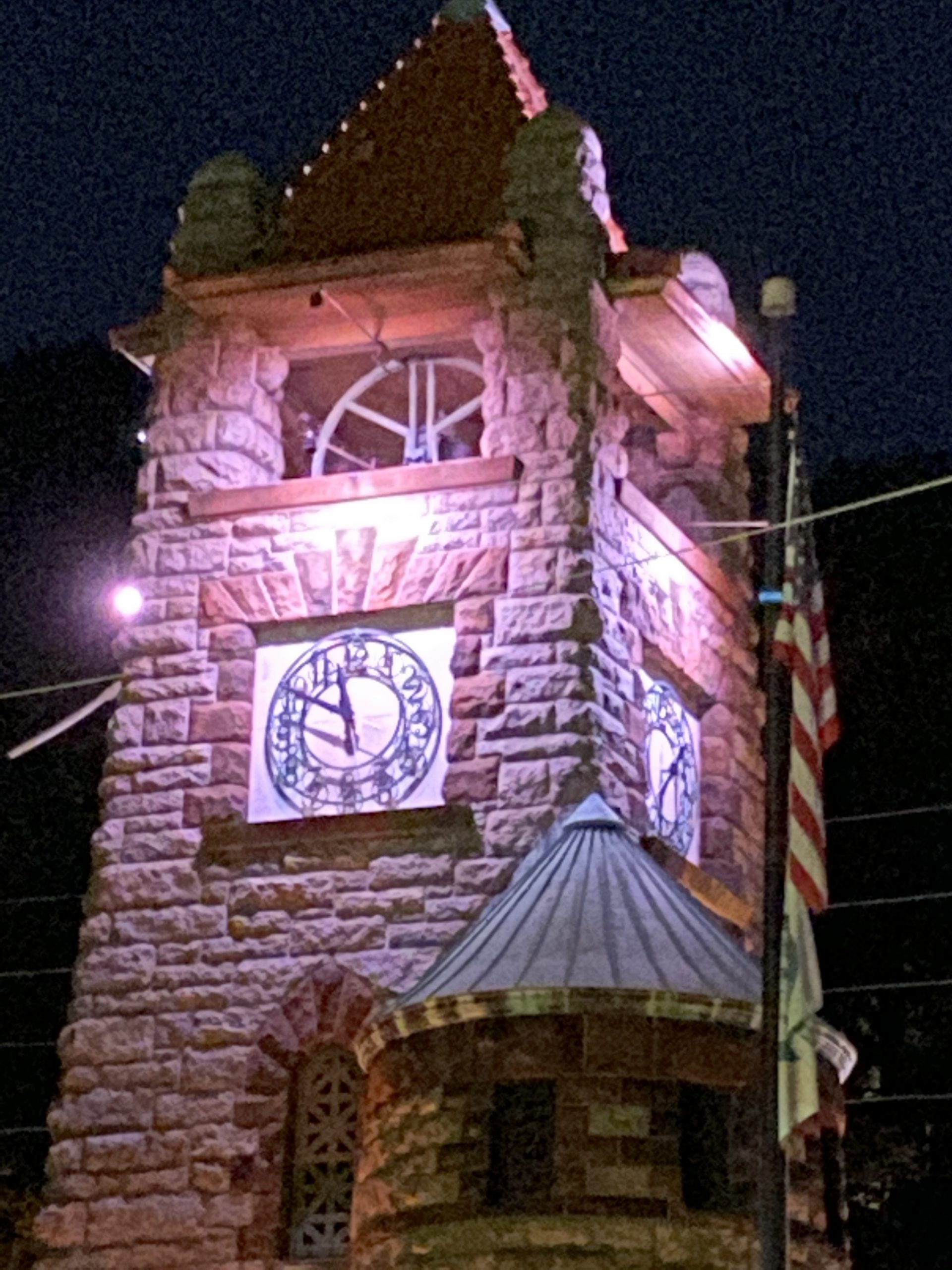 Pink Clock Tower